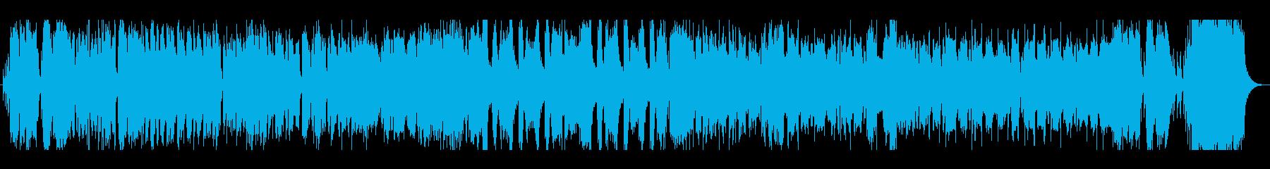 軽快で疾走感のあるジャズ風BGMの再生済みの波形