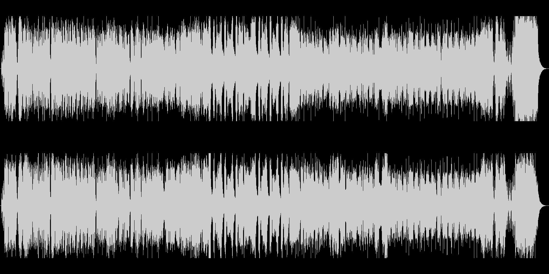 軽快で疾走感のあるジャズ風BGMの未再生の波形