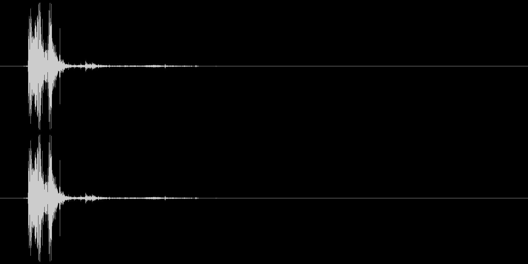 枝を折る音の未再生の波形