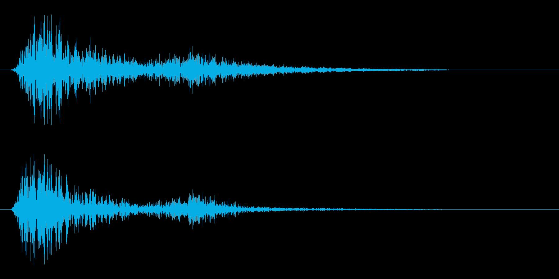 ザヒュ(風を刃物で切る効果音)の再生済みの波形