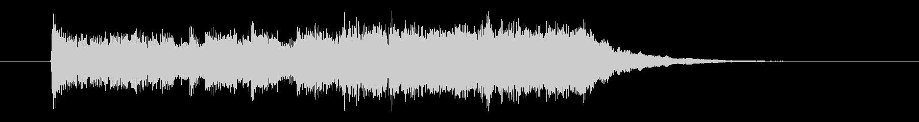 明るいポップスのジングル曲、サウンドロゴの未再生の波形