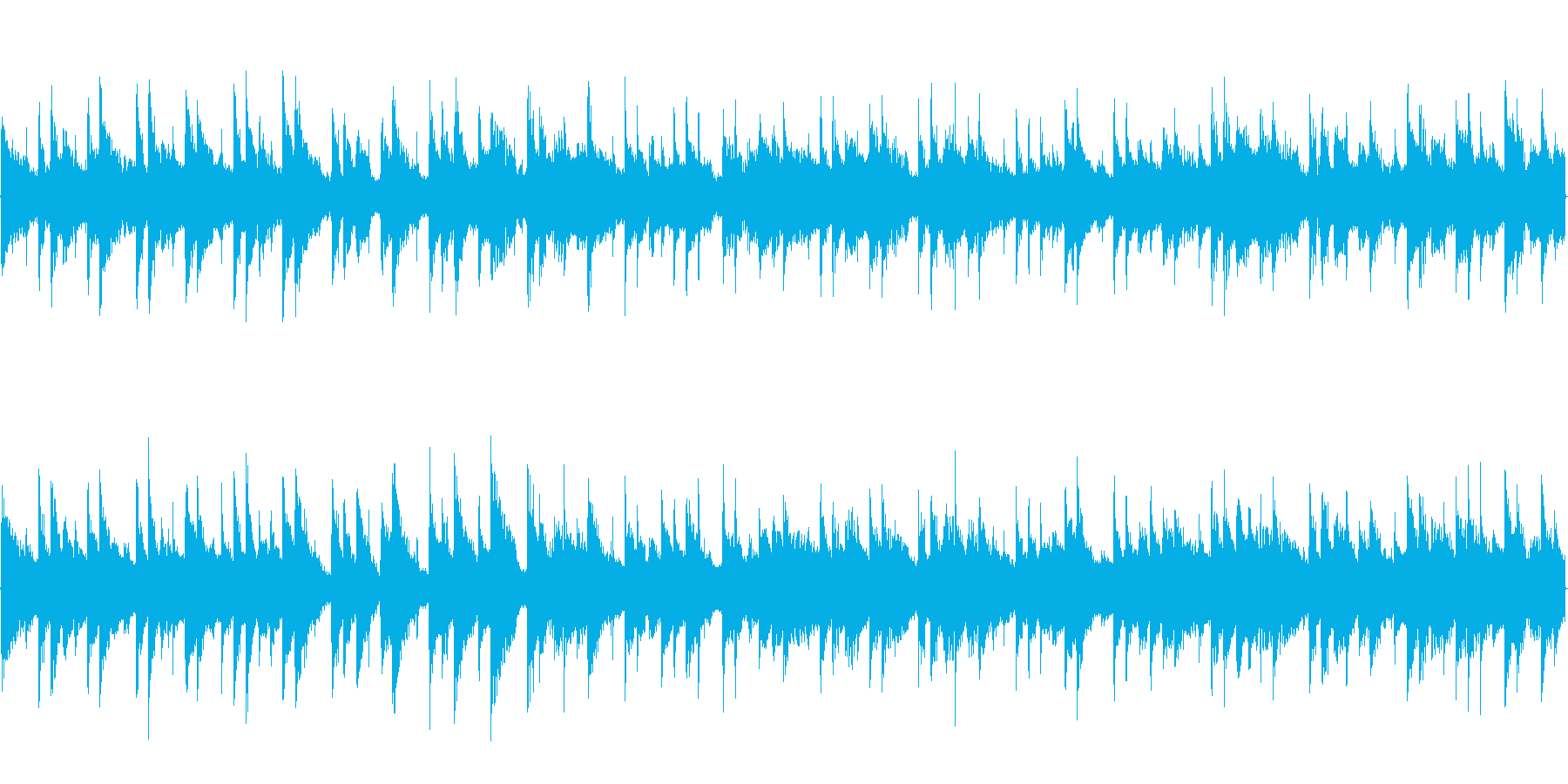 浜辺をイメージしたピアノ曲 ループの再生済みの波形