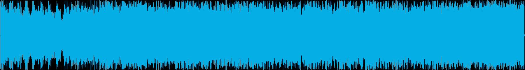 荒野を駆け抜けるイメージのBGMの再生済みの波形
