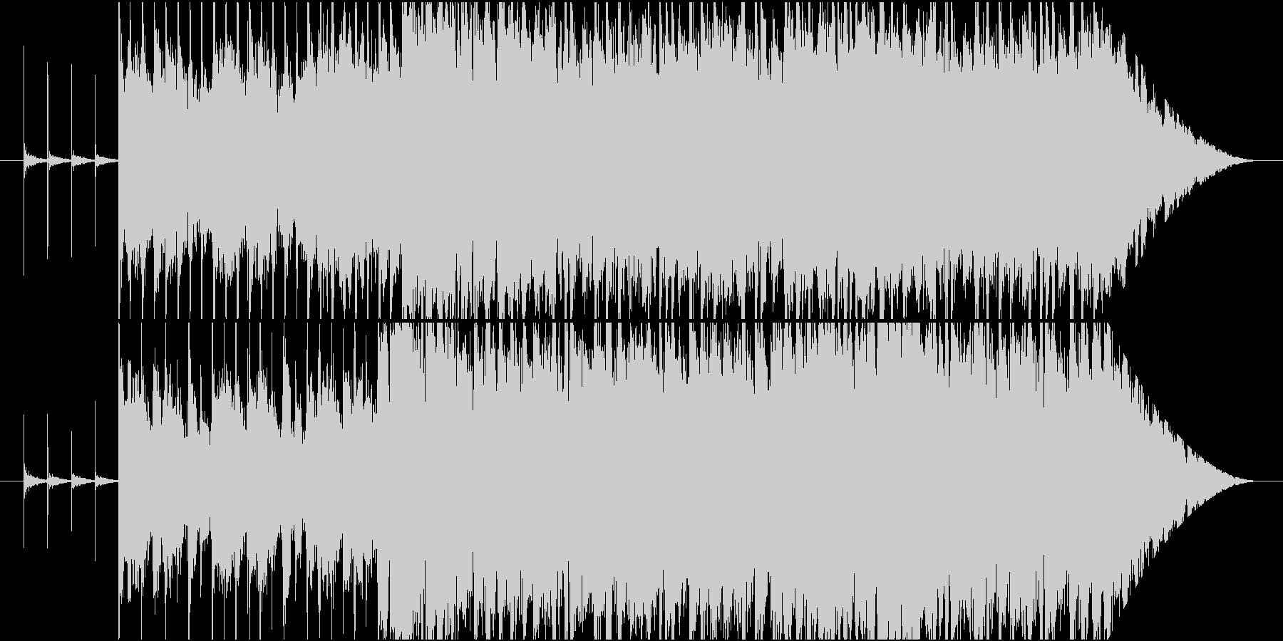 爽やかで軽快なギターサウンドロゴの未再生の波形
