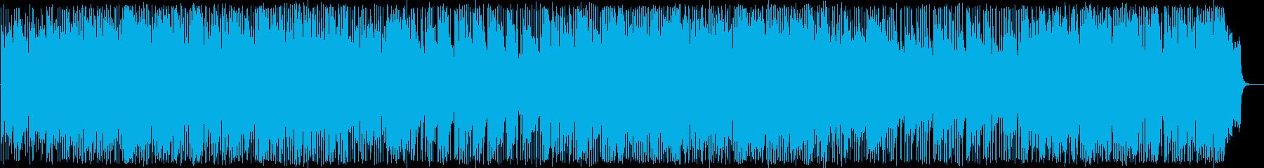 明るいフュージョン風のインスト曲の再生済みの波形