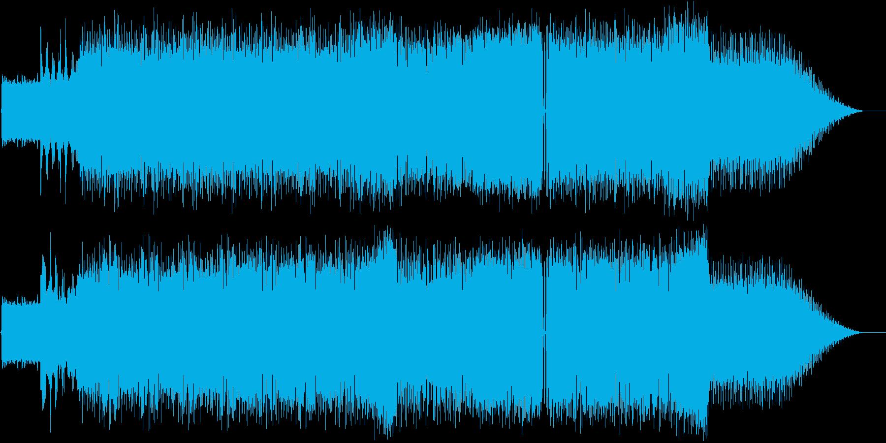 疾走感のあるアグレッシブ系ビッグビートの再生済みの波形