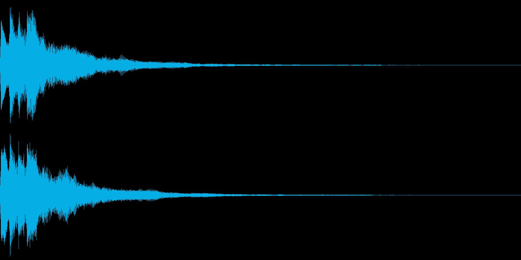 キラキラ キランなアタック音5-3の再生済みの波形