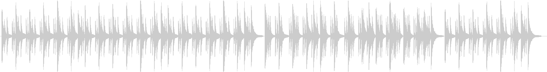 ピアノとベルで奏でるヒーリングBGMの未再生の波形