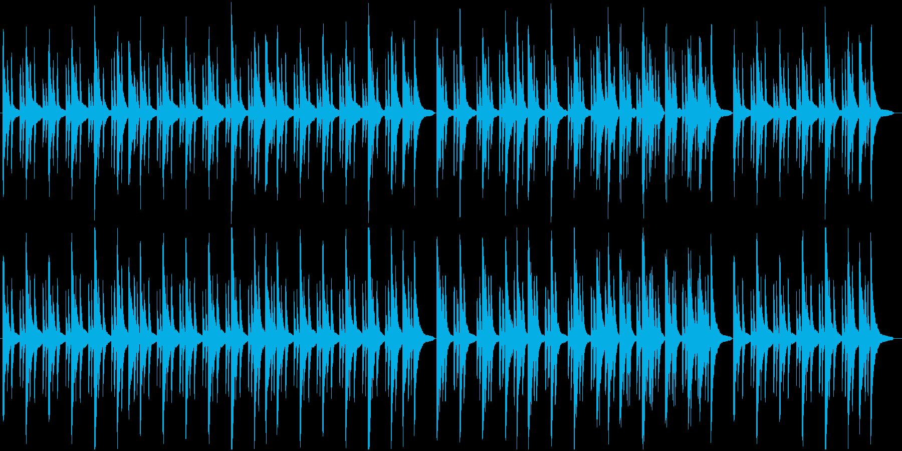 ピアノとベルで奏でるヒーリングBGMの再生済みの波形