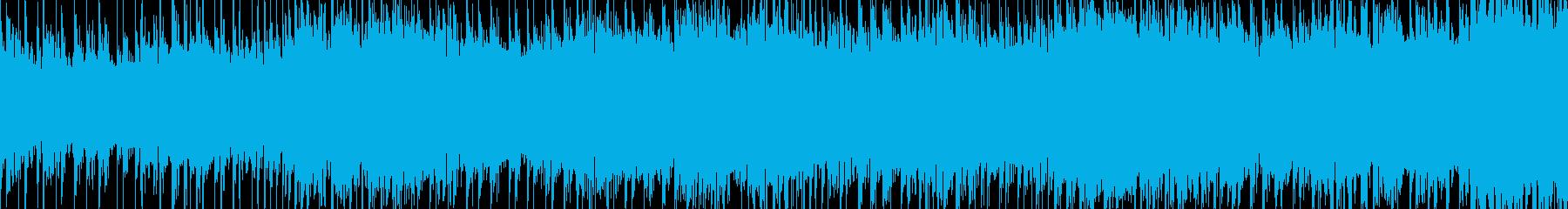 和風のループ曲の再生済みの波形