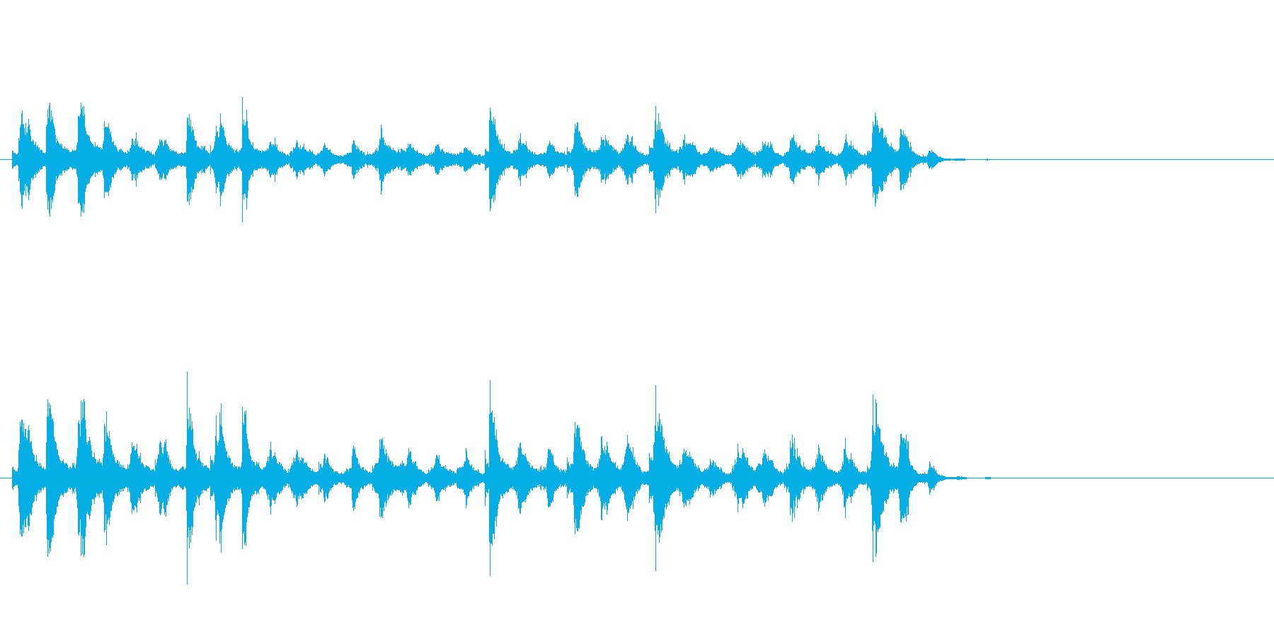 音侍「チャッパ」和製シンバルのフレーズ4の再生済みの波形
