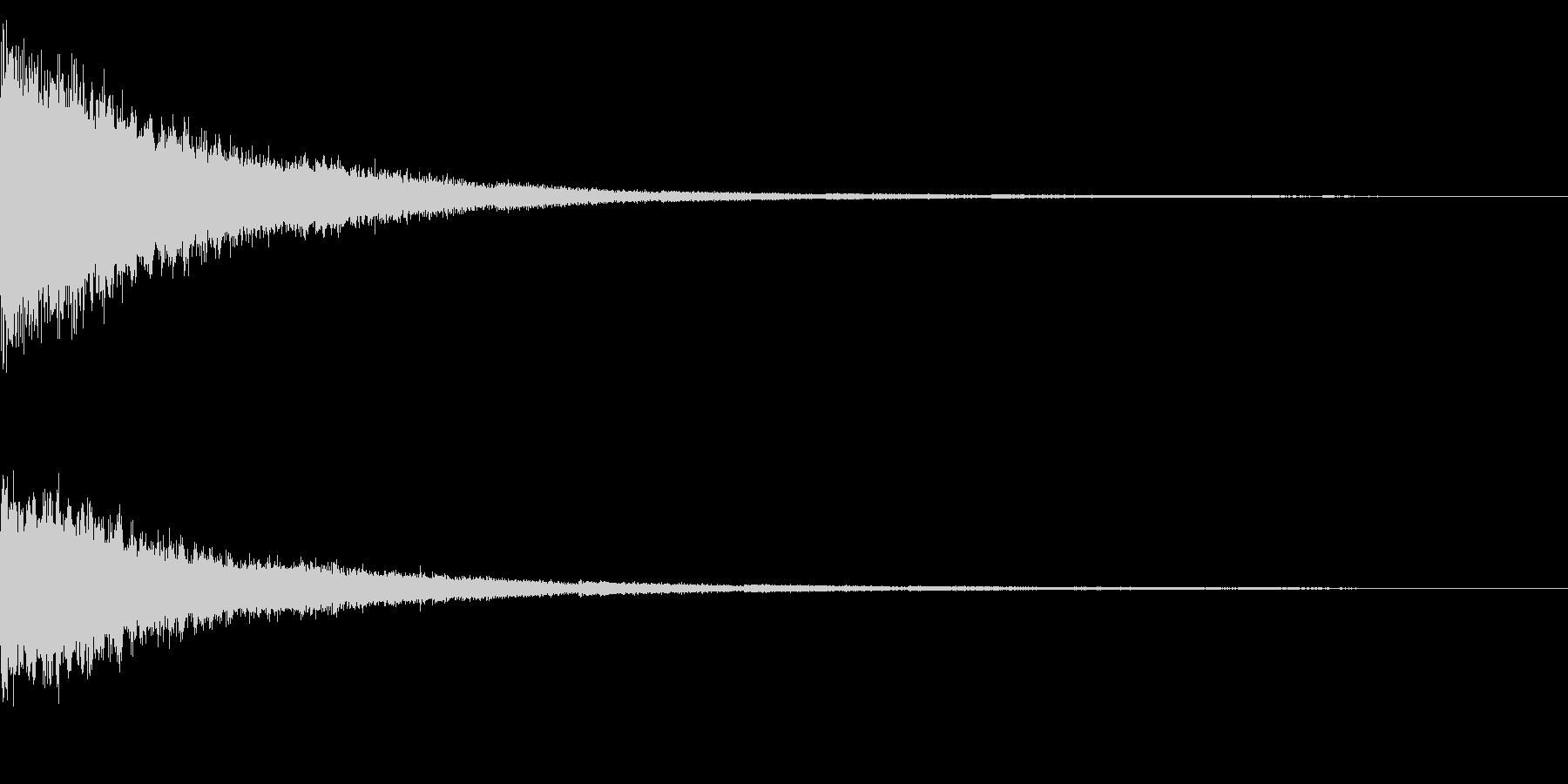 ホラー系アタック音71の未再生の波形