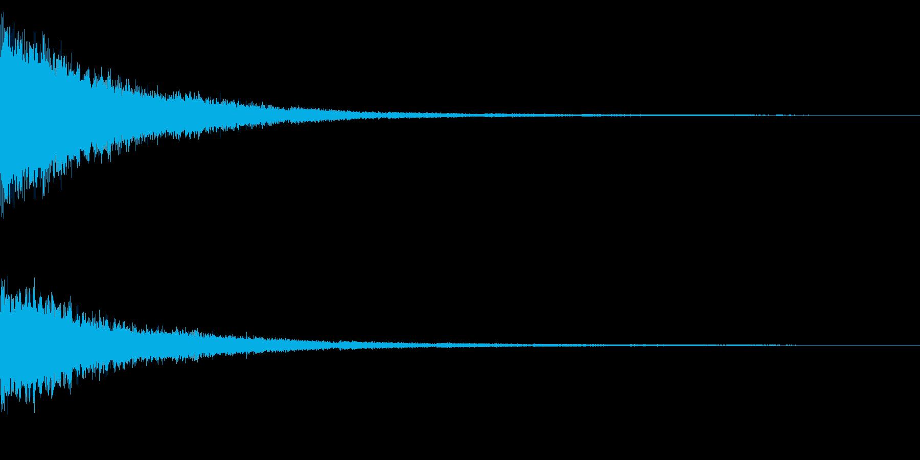 ホラー系アタック音71の再生済みの波形