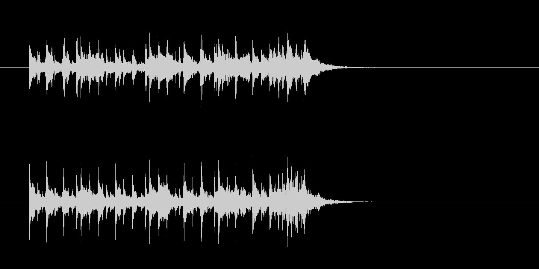 コミカル 怪しい 奇妙 シンセサイザーの未再生の波形