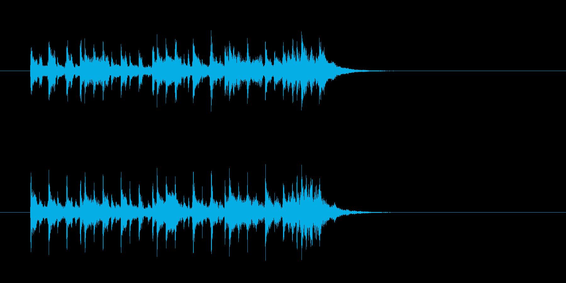コミカル 怪しい 奇妙 シンセサイザーの再生済みの波形