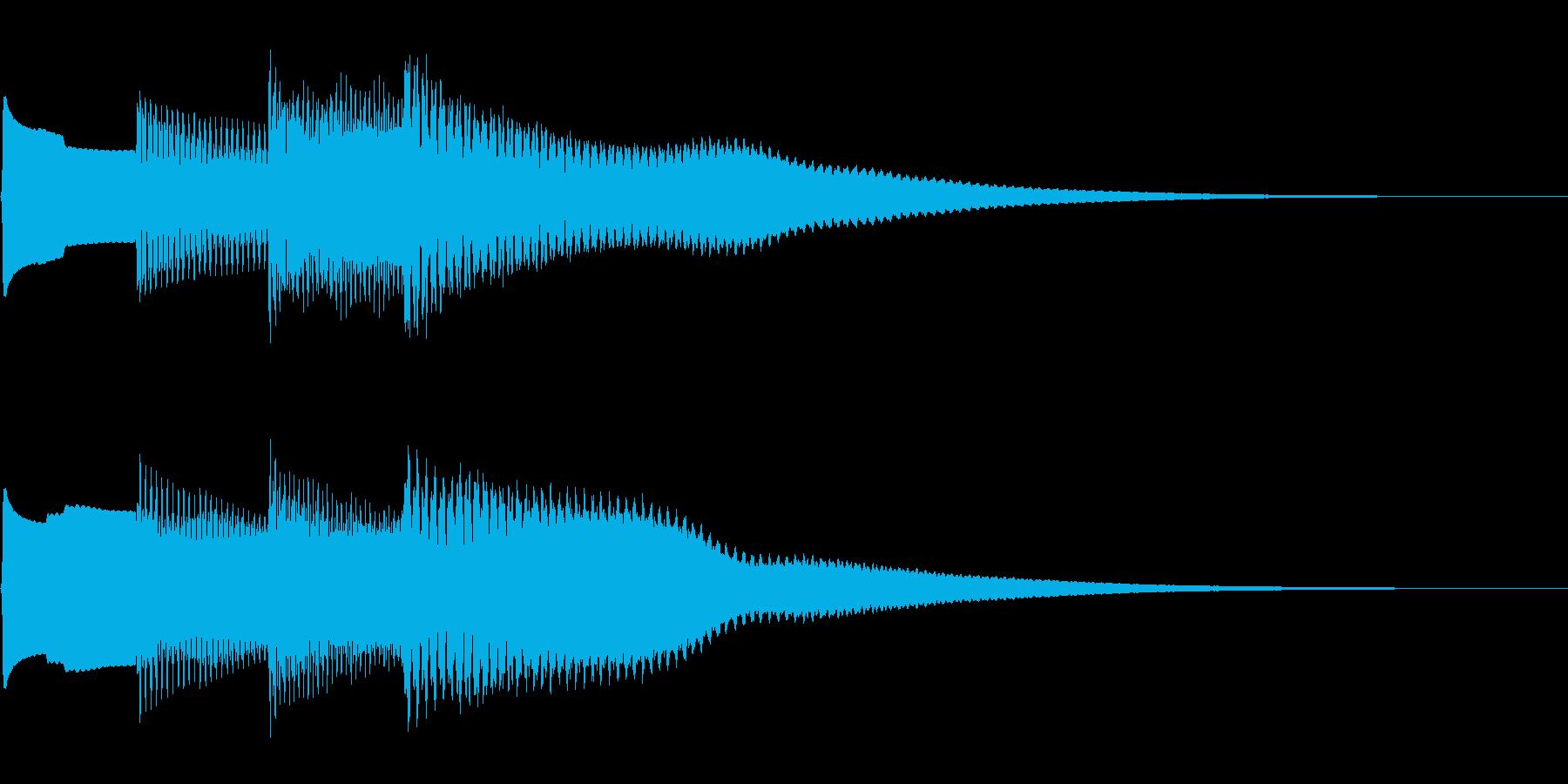 キラキラーんの再生済みの波形