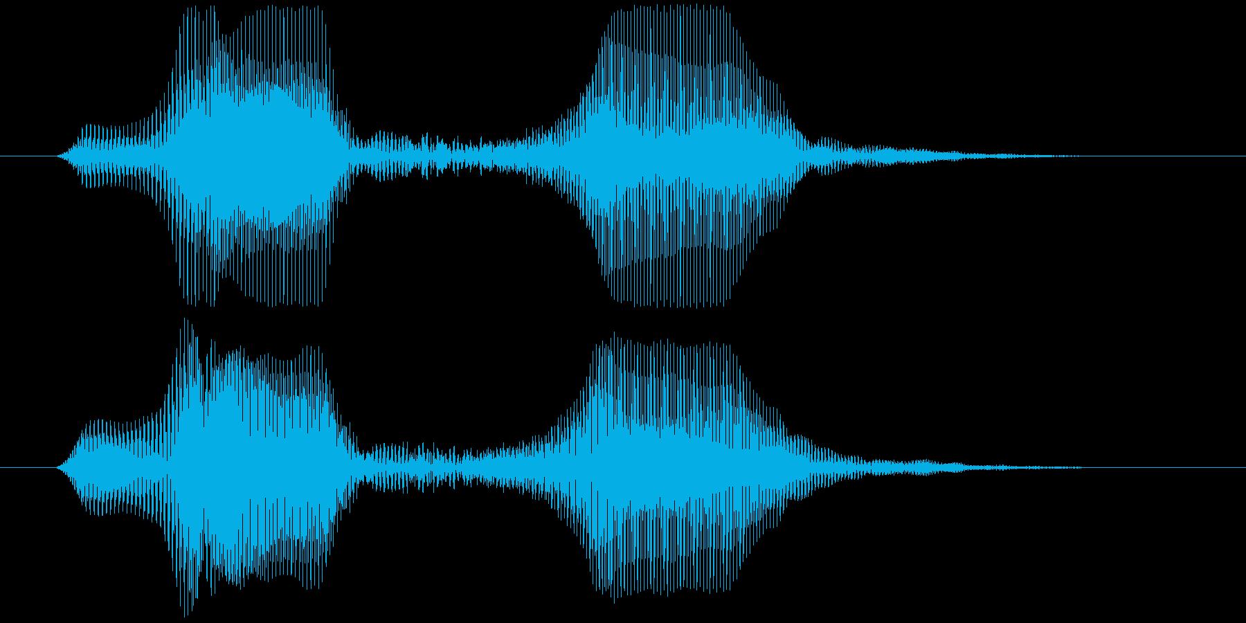 ぱふの再生済みの波形