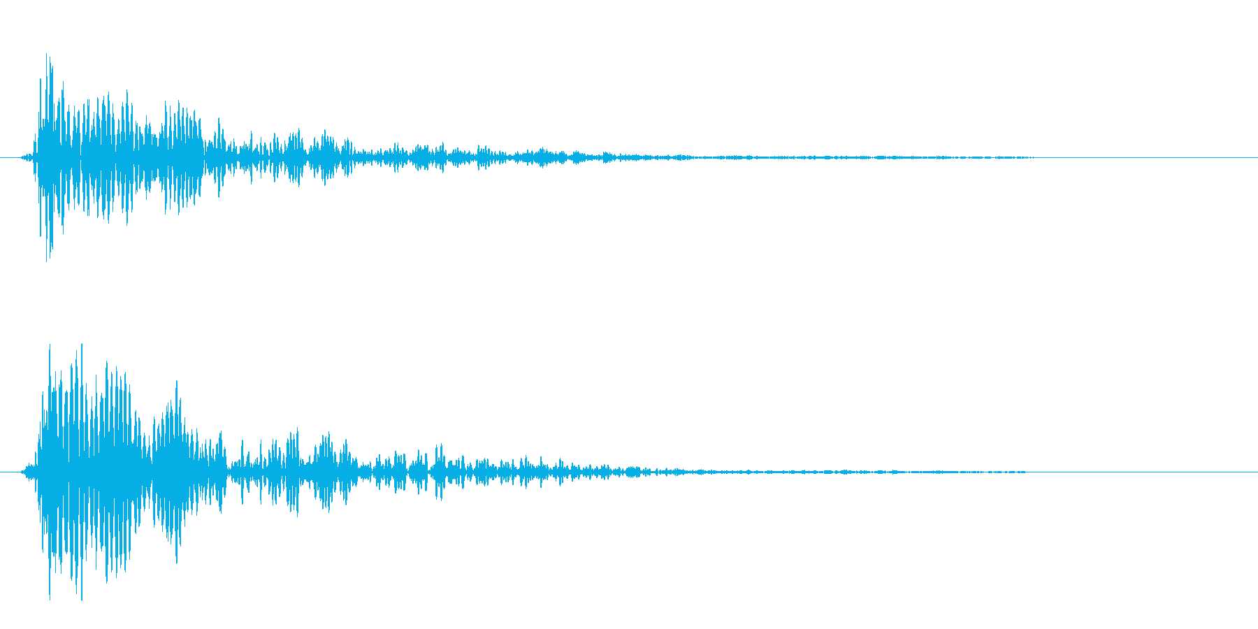 ドン(落下した時の着地音)の再生済みの波形