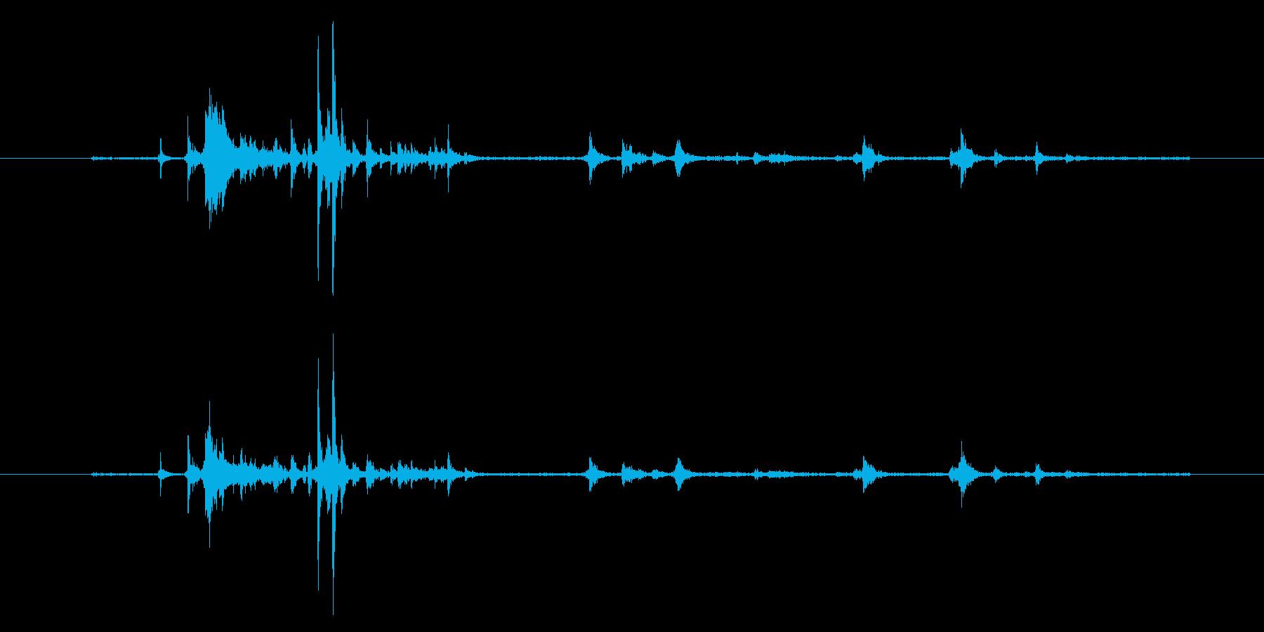 【生音】自販機に小銭を入れる音 (コイ…の再生済みの波形