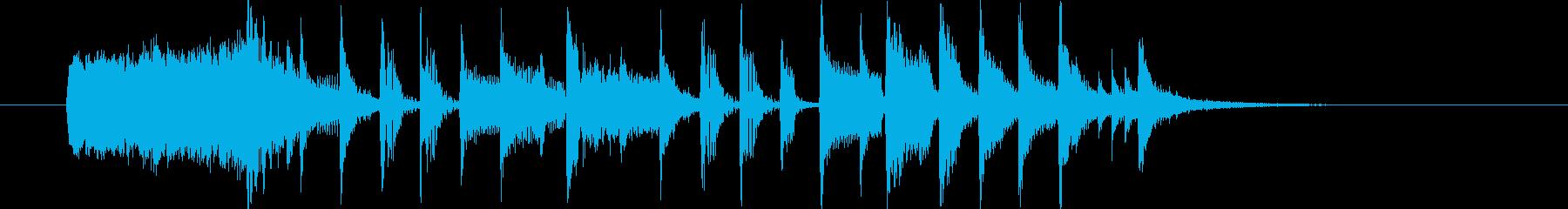 シンセメインのブレイクビーツの再生済みの波形
