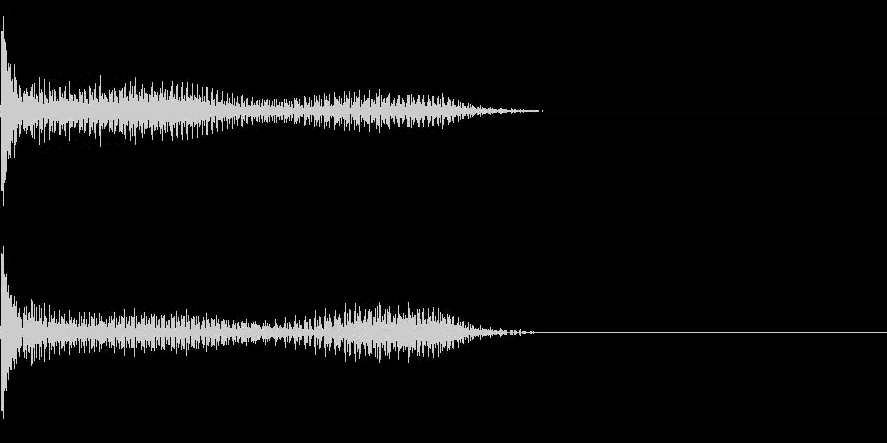 効果音 SF 宇宙 扉 の未再生の波形