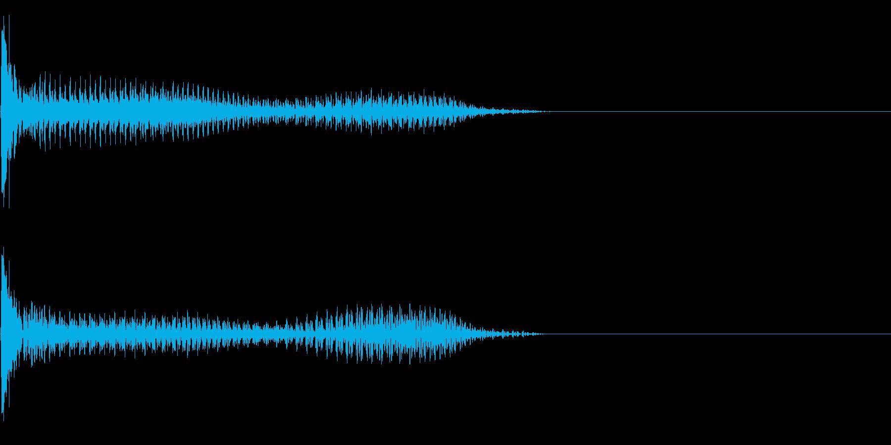 効果音 SF 宇宙 扉 の再生済みの波形