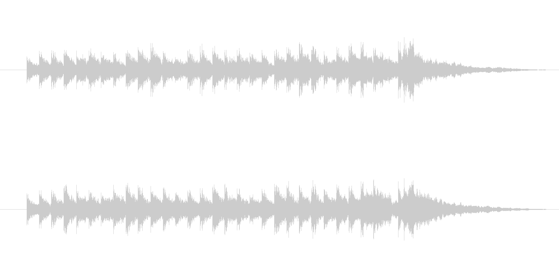 キンコン、カンコンの未再生の波形