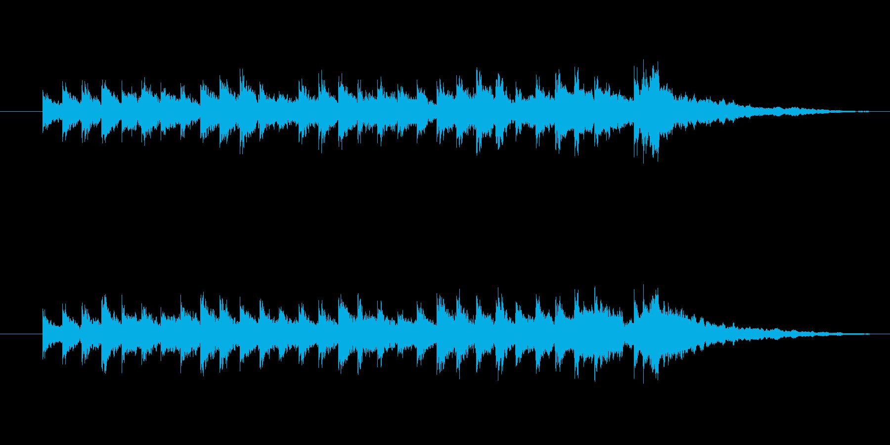 キンコン、カンコンの再生済みの波形