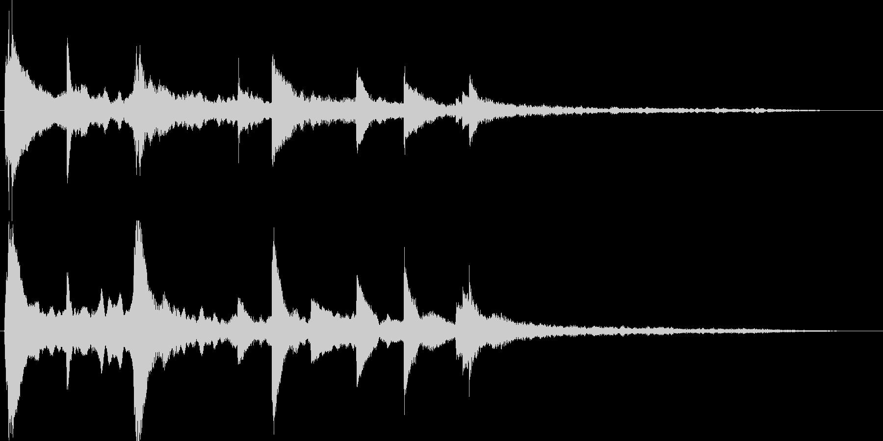 ピアノの旋律が感動的なサウンドロゴの未再生の波形