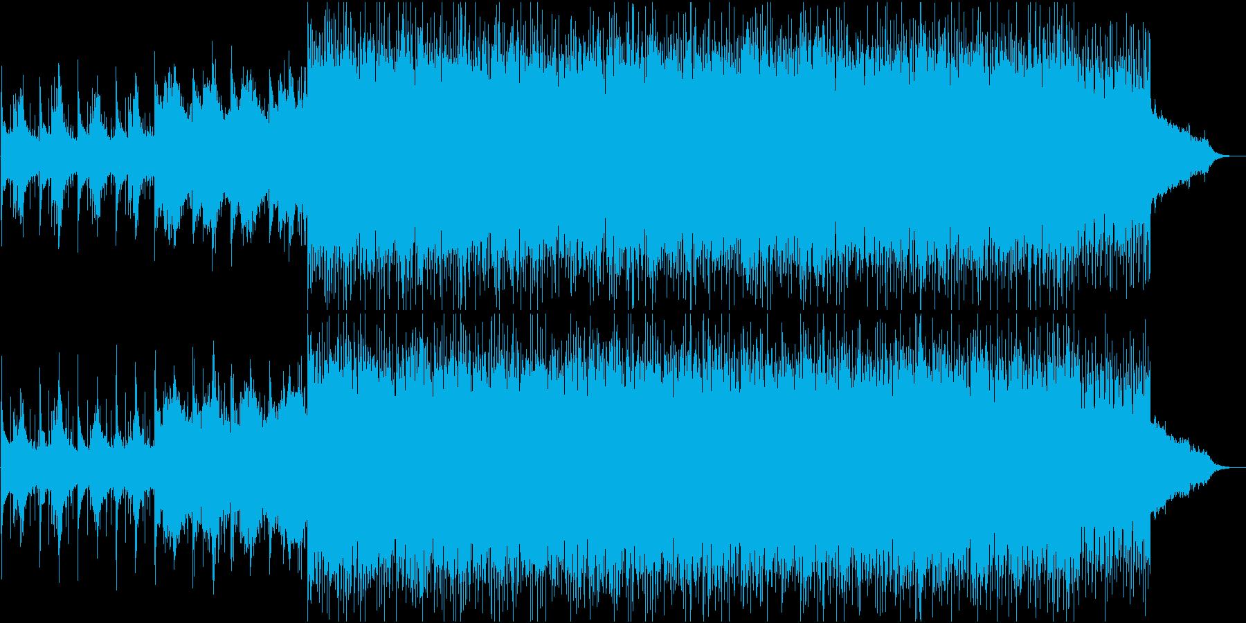 ボーカルが広がる神秘の世界でリズミカルの再生済みの波形