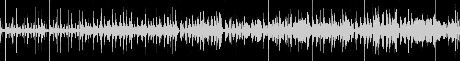 疾走感のあるドラムンベース風BGMの未再生の波形