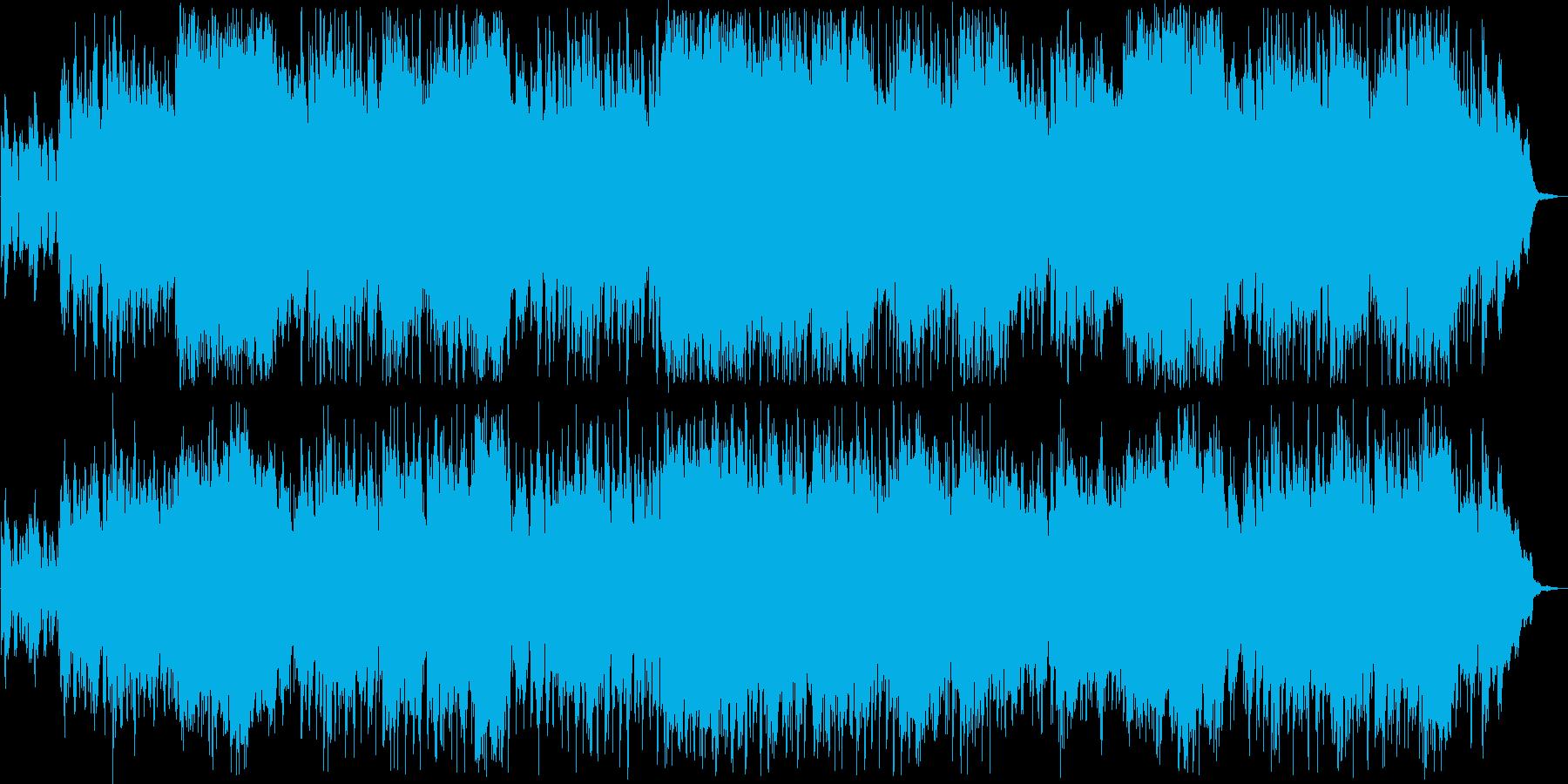 晴れやかなギターピアノなどのサウンドの再生済みの波形