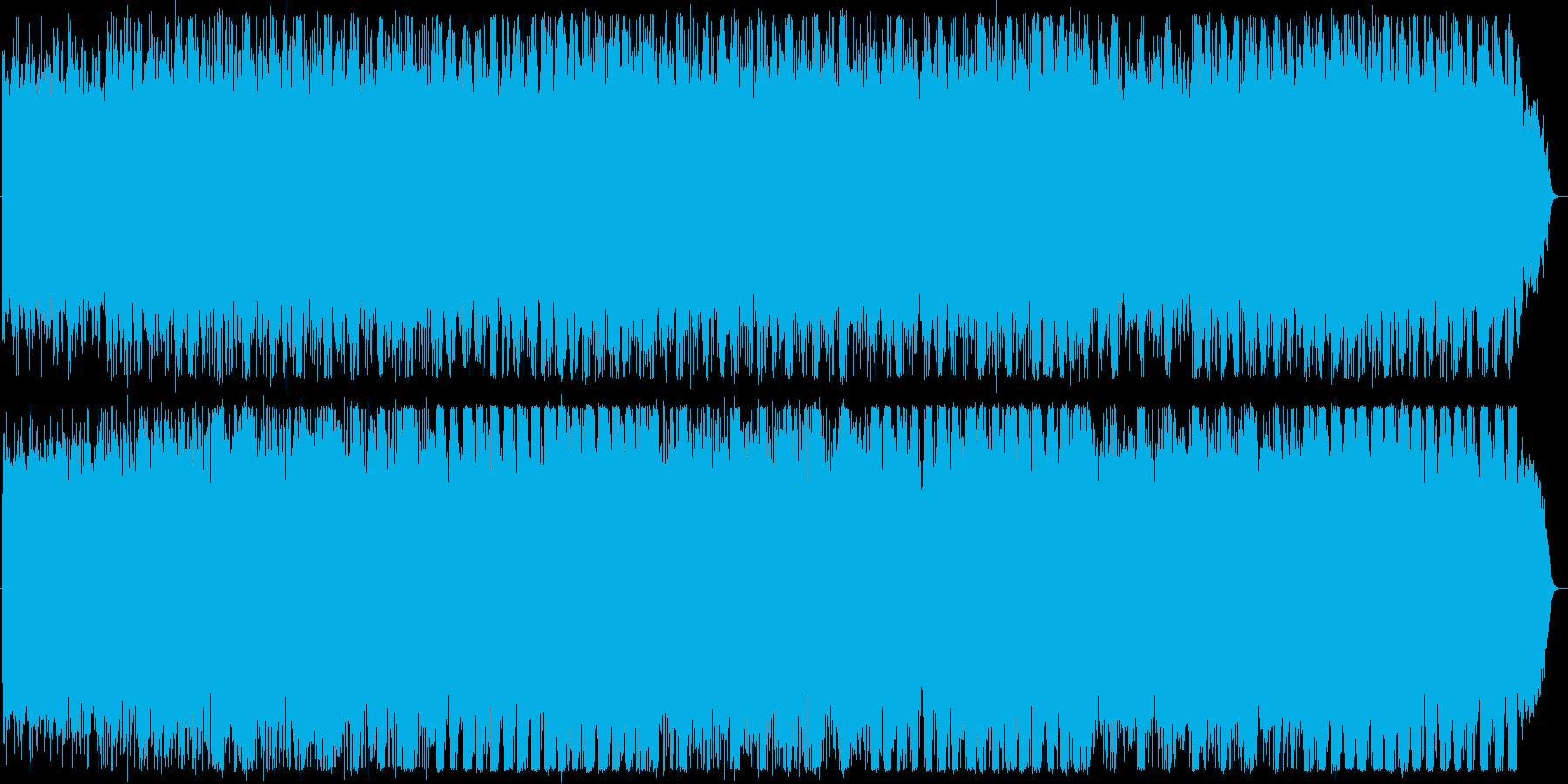 宇宙を漂うイメージの再生済みの波形