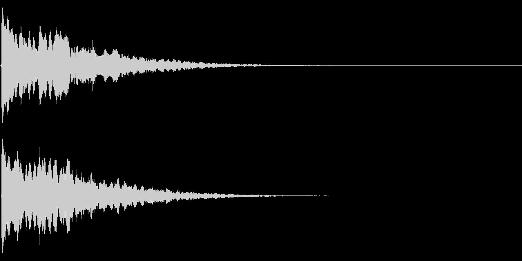 ゲームスタート、決定、ボタン音-149の未再生の波形