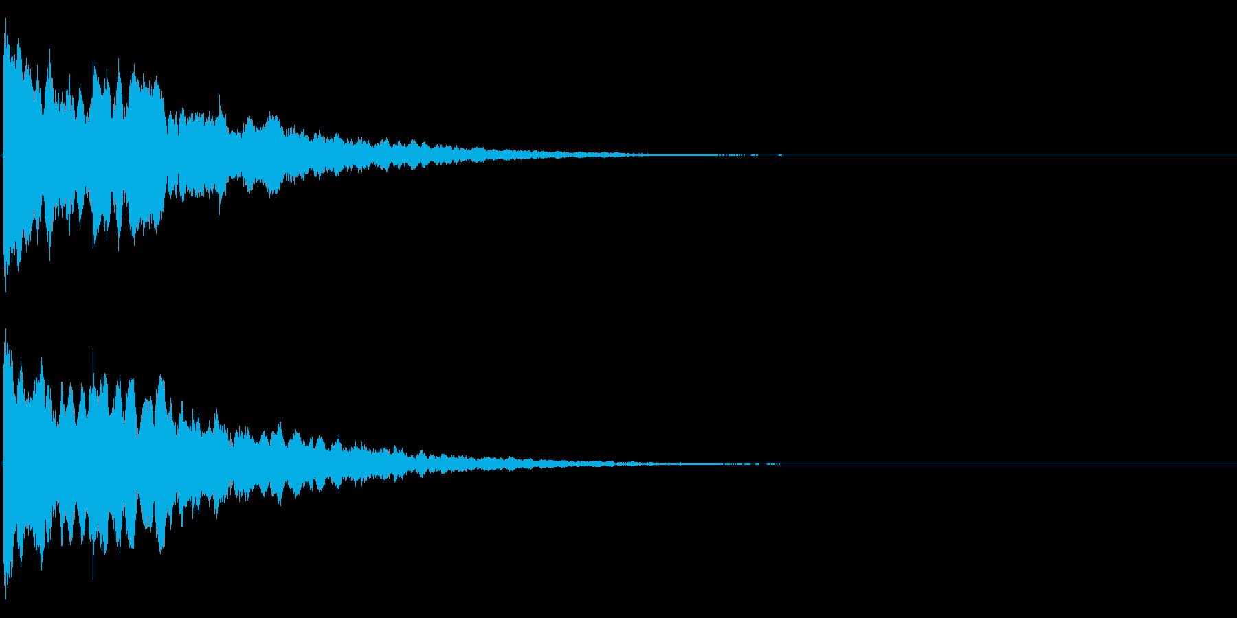 ゲームスタート、決定、ボタン音-149の再生済みの波形