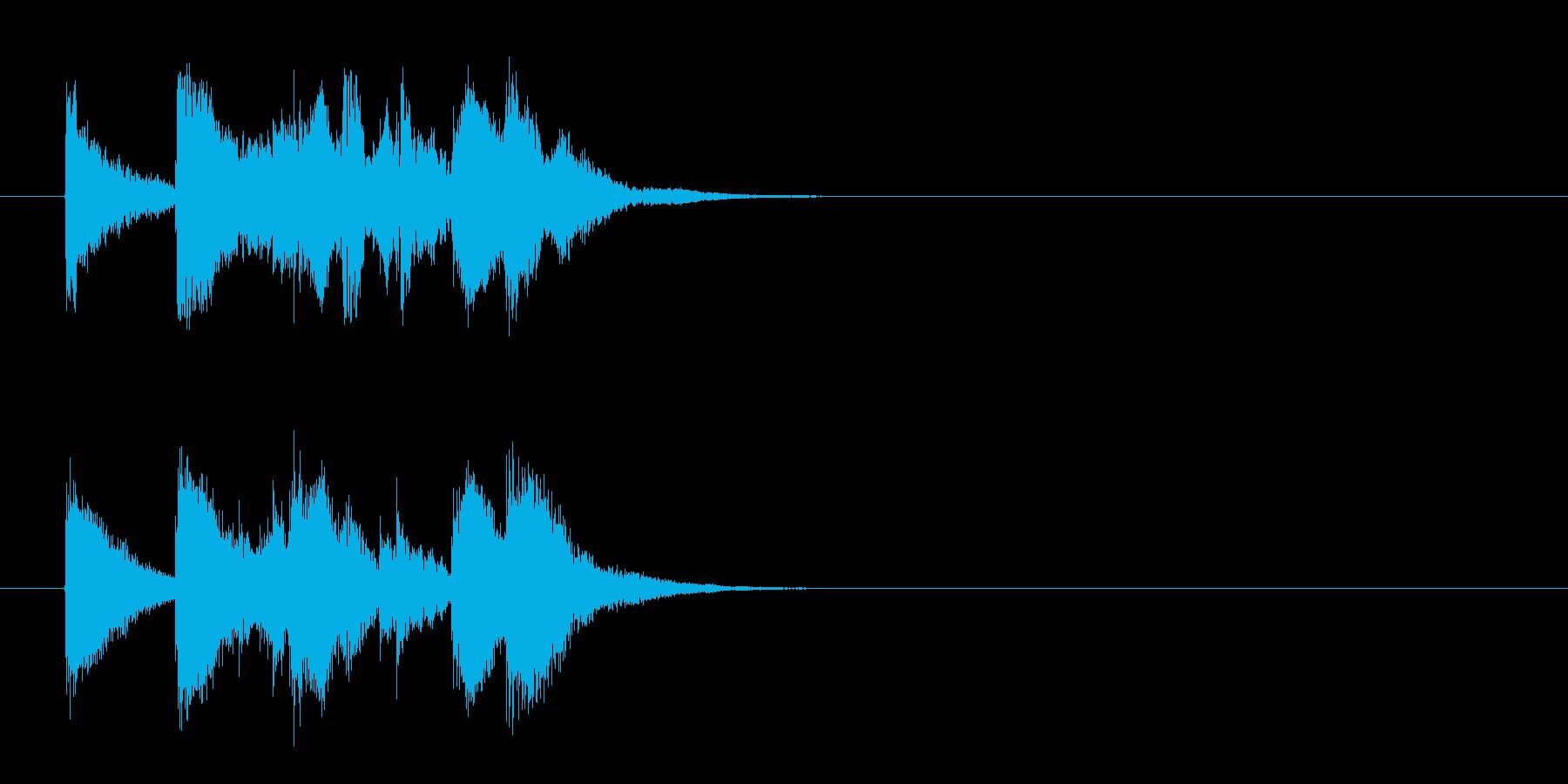 ジングル(わびさびのある純邦楽風)の再生済みの波形