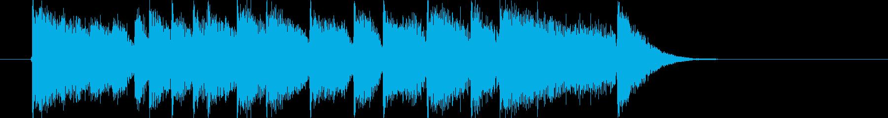 明るく弾けるようなポップスの再生済みの波形
