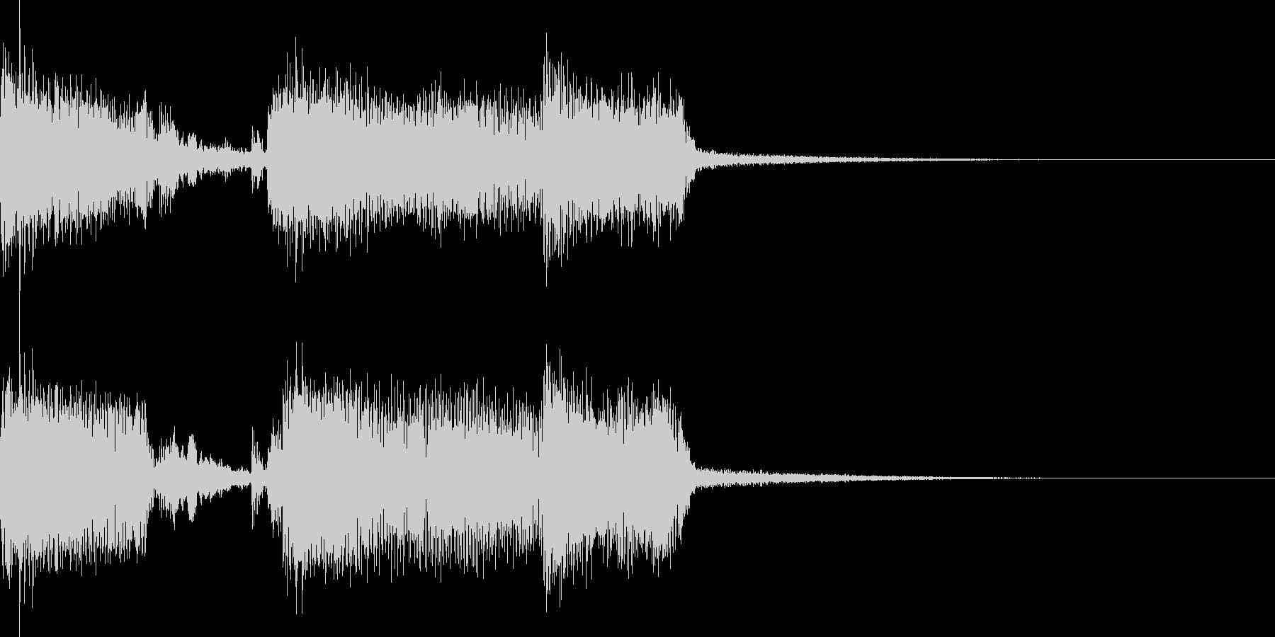 エレキギターがメインのロック系ジングルの未再生の波形