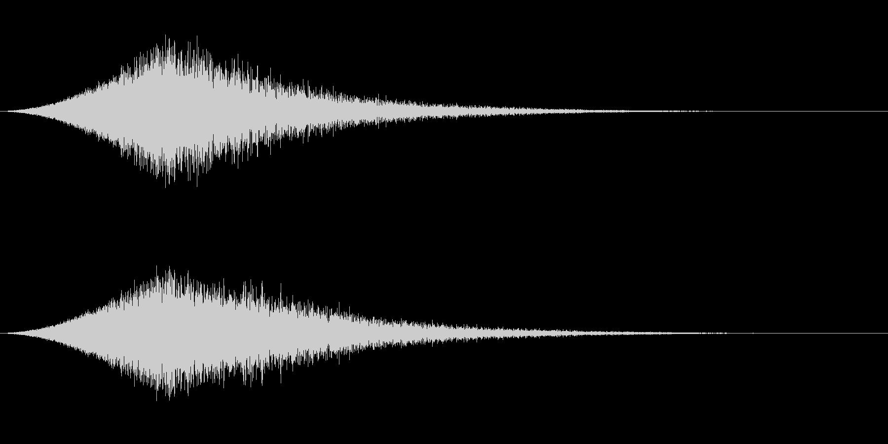 敵が消滅する音 シュワーンの未再生の波形