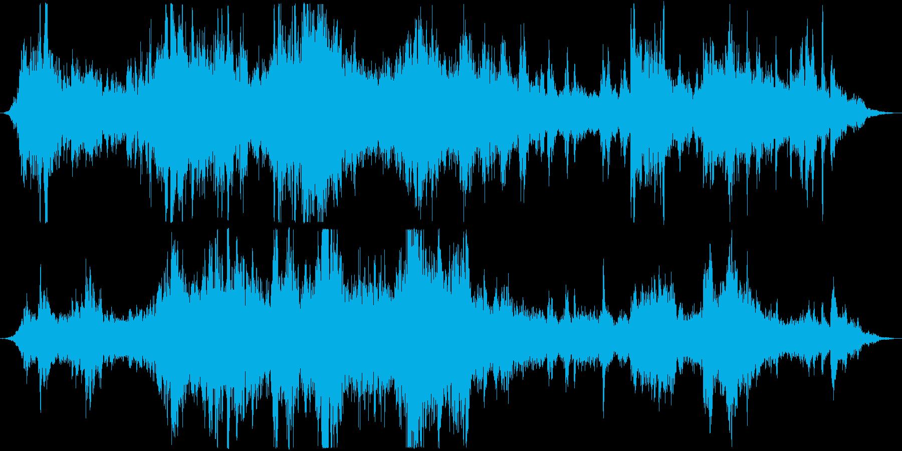 だんだん怖いものが迫ってくるBGMの再生済みの波形