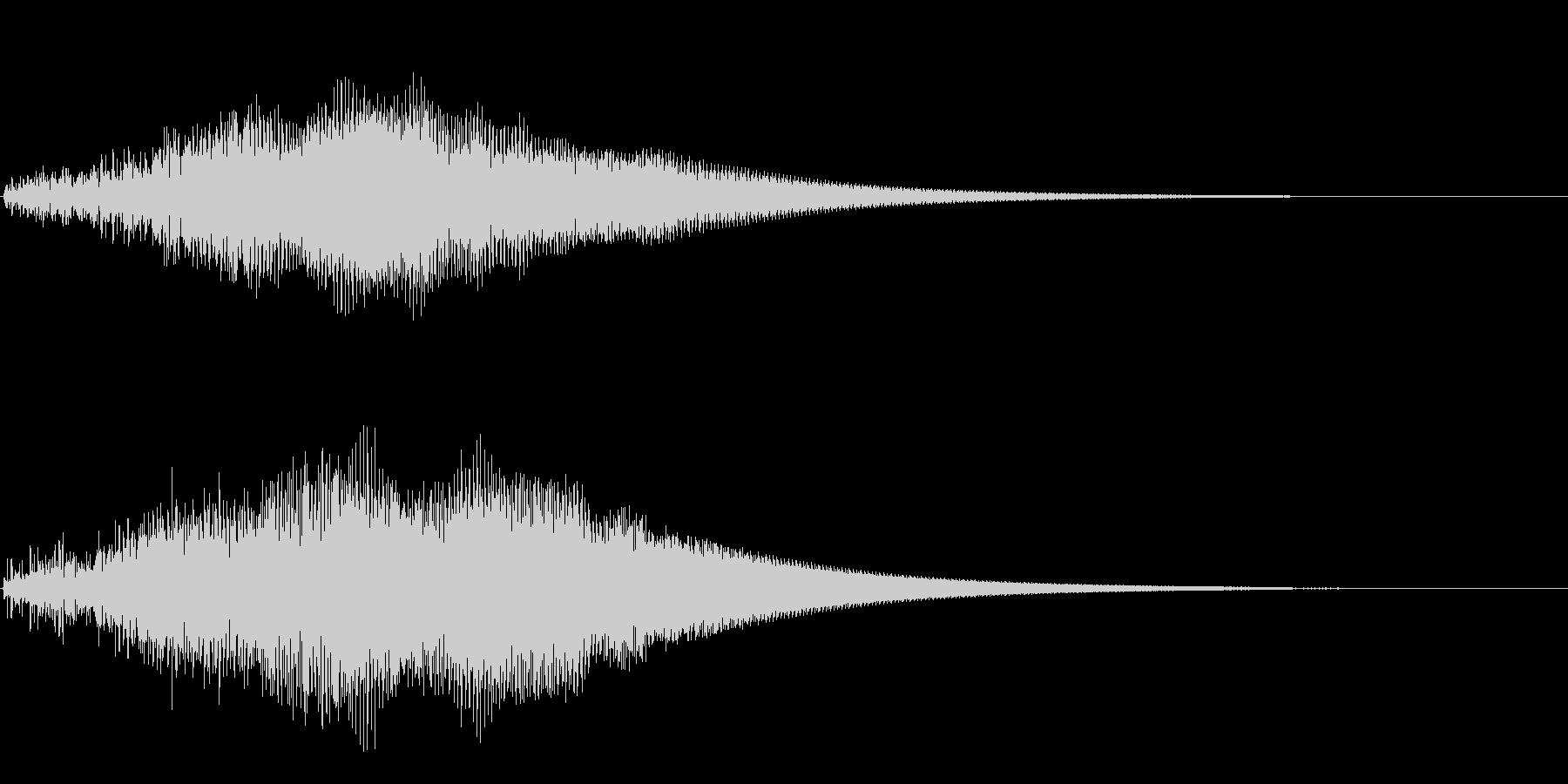 ブーン(物体が通り過ぎるような音)の未再生の波形