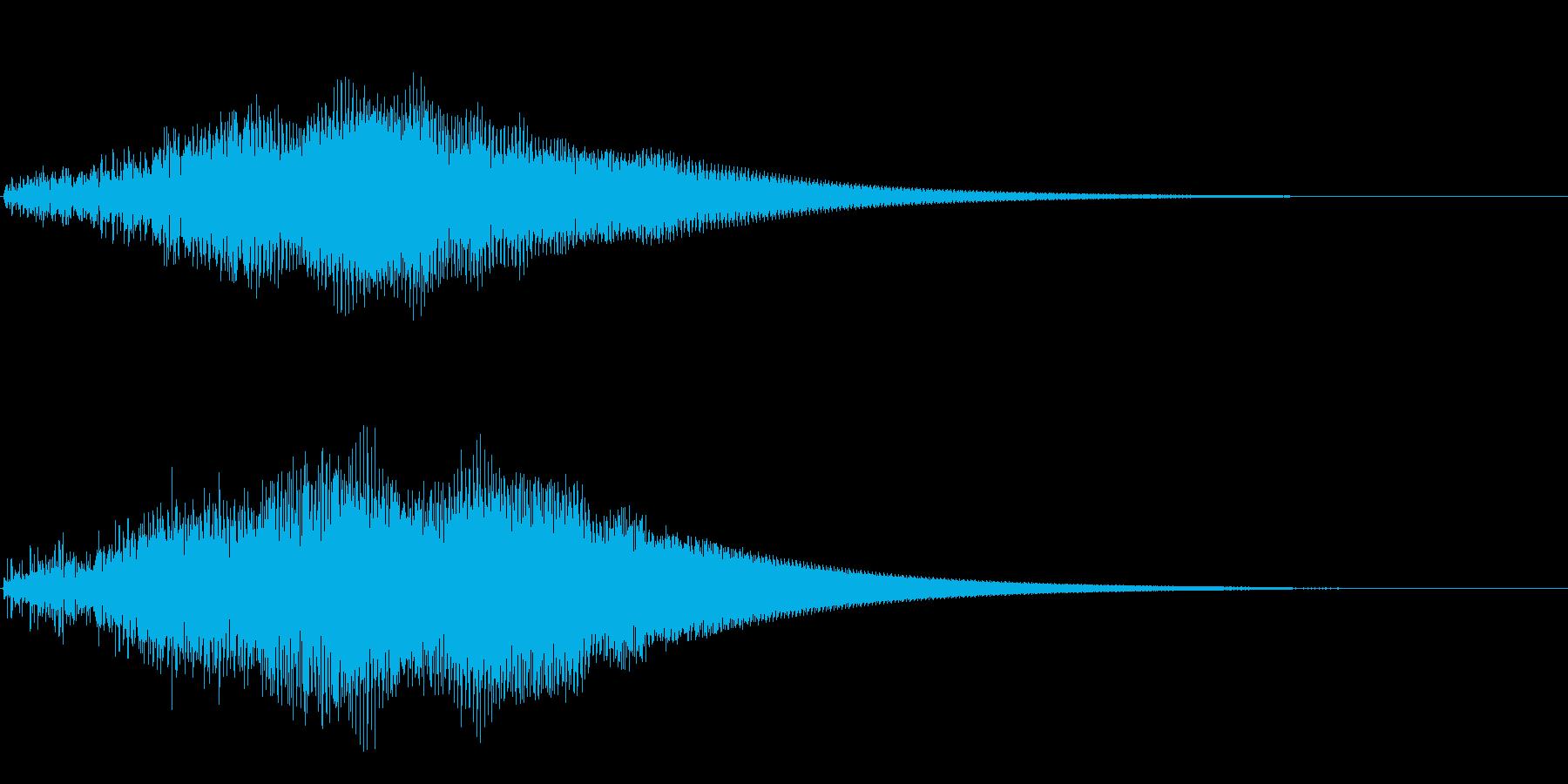 ブーン(物体が通り過ぎるような音)の再生済みの波形