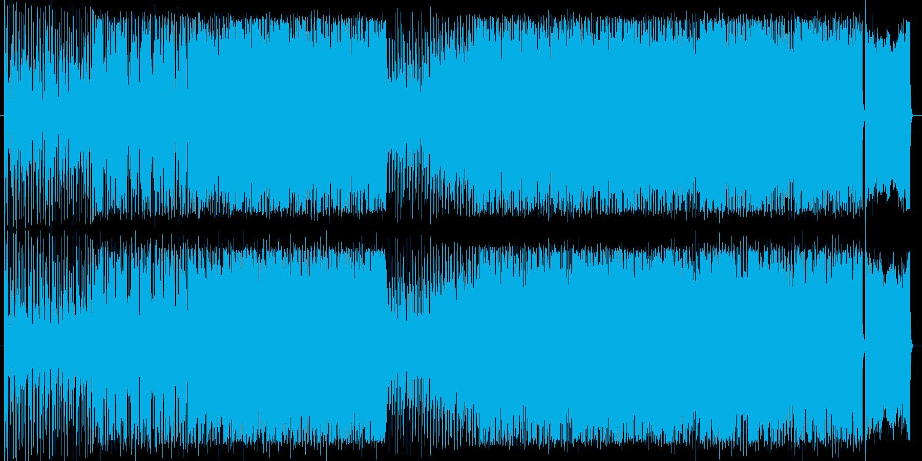 クールで近未来的なデジロックの再生済みの波形