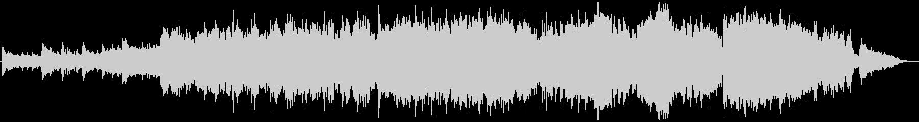 神秘的なピアノオーケストラバラードの未再生の波形