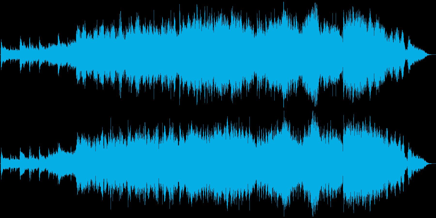 神秘的なピアノオーケストラバラードの再生済みの波形