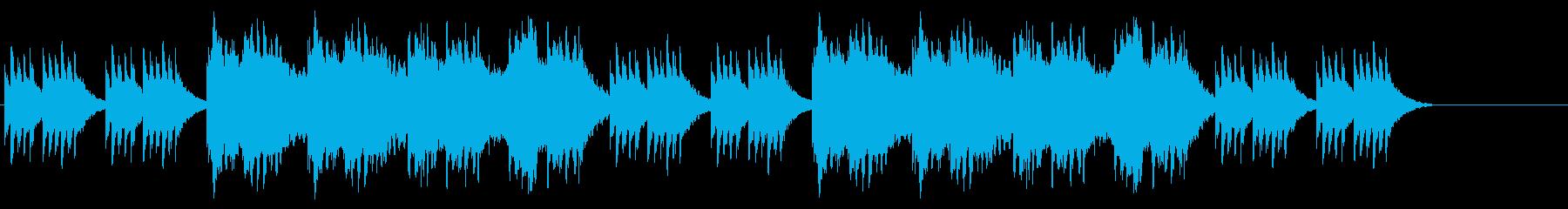 寂しいバラードの再生済みの波形
