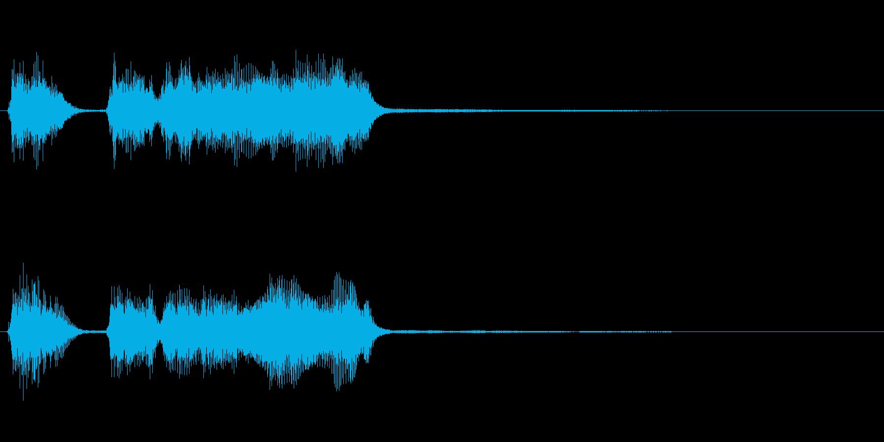 玩具系ファンファーレ-05の再生済みの波形