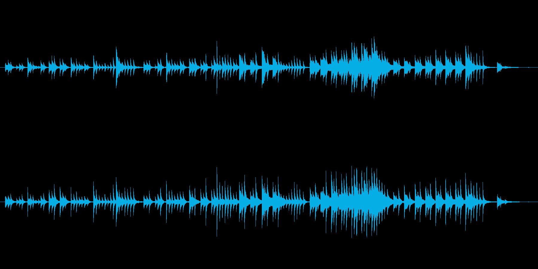 優しい 切ない映像用 花 ■ ピアノソロの再生済みの波形