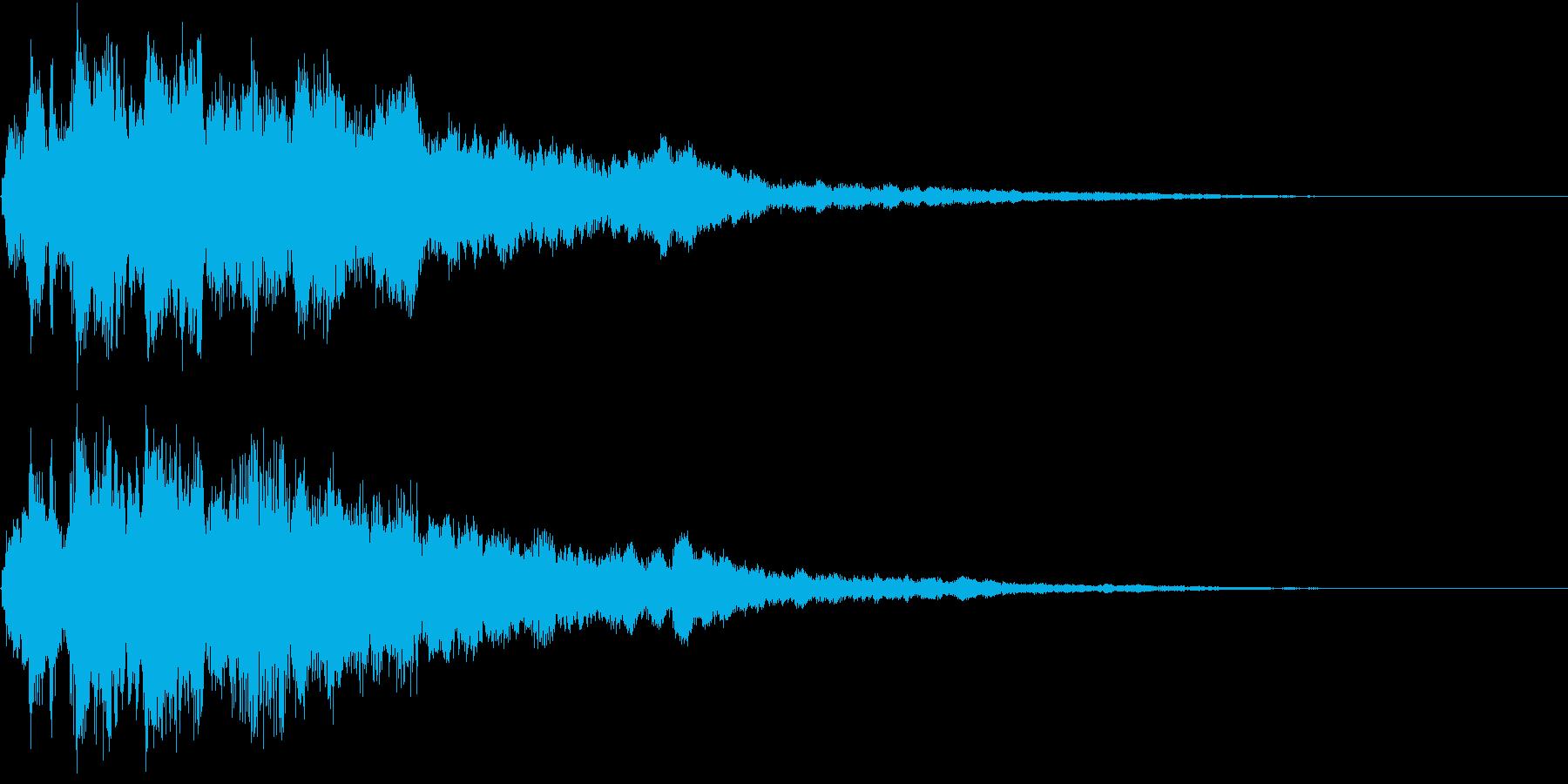 和風 出現 現れ 登場 出場 笛 キラリの再生済みの波形