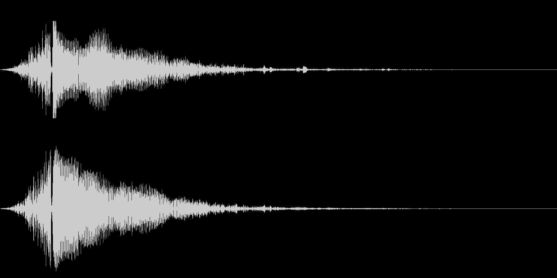 ホラー系アタック音125の未再生の波形